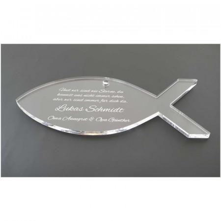 Acrylglas zur Geburt und Taufe mit Wunschtext graviert