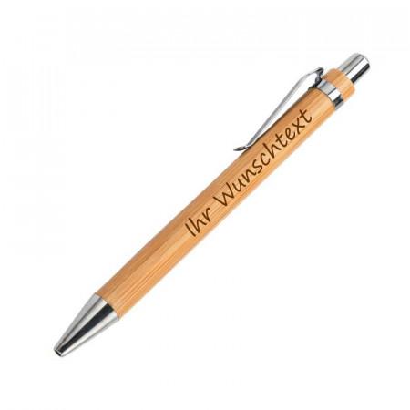 Holz Kugelschreiber aus Bambus mit Name graviert
