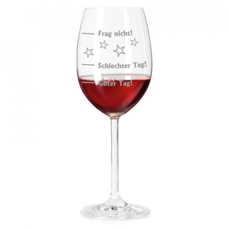 Leonardo Weinglas mit Gravur