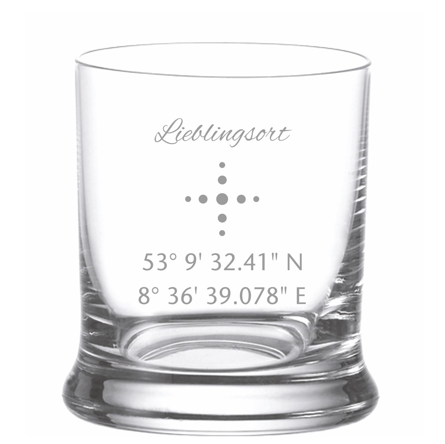 Leonardo Whiskyglas mit Gravur \