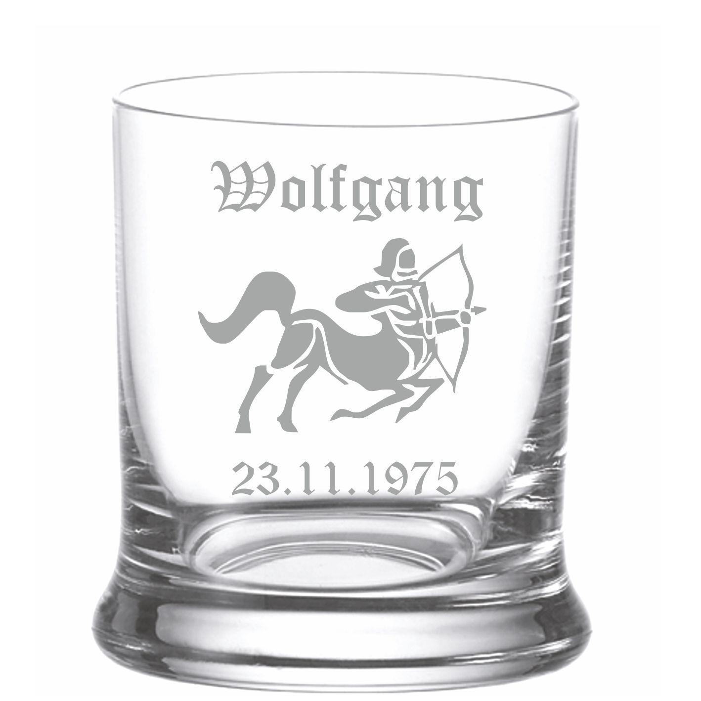 Whiskyglas mit Gravur Sternzeichen   Mit Name graviert - laser ...